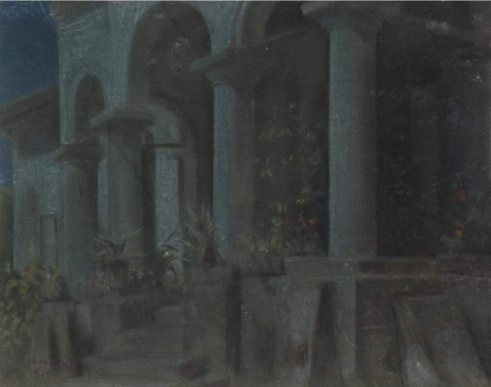 Nocturne. The Southern Portico of the Villa